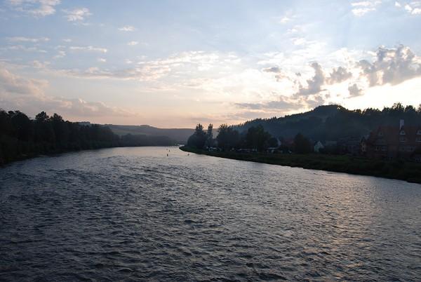 Вид на Дунаец с моста