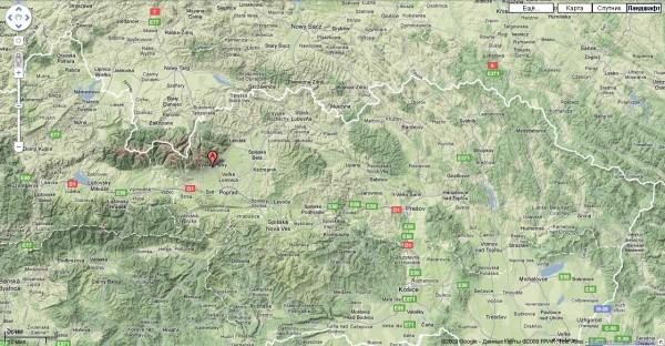 Карта Высоких Татр