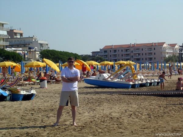 На пляже в Лидо ди Йесоло