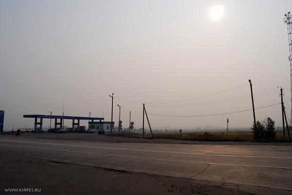Центральная Россия в дыму