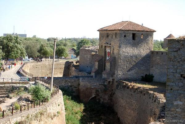 Вид со стены на главынй вход