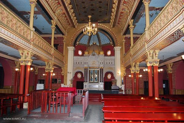 Внутри Храмовой синагоги