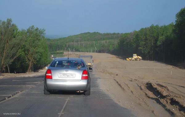 Дорога в районе Чебоксар