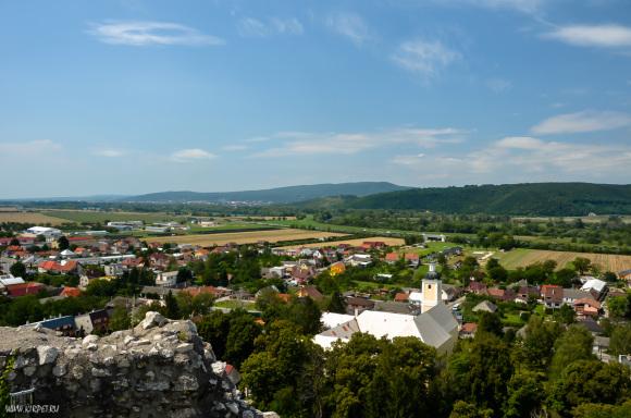 Вид с града
